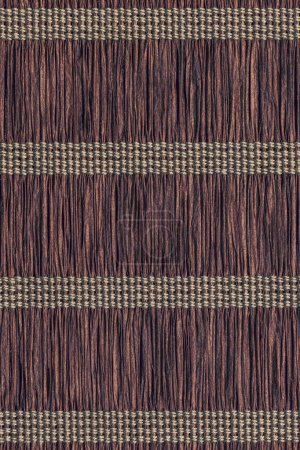 Paper Parchment Plaited Place Mat Umber Brown Woven Grunge Texture Sample