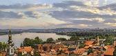Panoramic View From Gardos Lookout in Zemun on River Danube Town of Zemun and Belgrade - Serbia