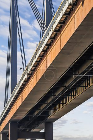 Suspension New Railway Bridge - Modular Box Girder Framework Detail - Belgrade - Serbia