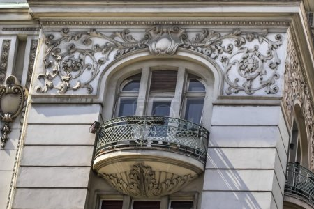 Photo for Photograph of the former Russian Czar restaurant building facade detail, Belgrade, Republic of Serbia. - Royalty Free Image