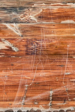 Old Weathered Varnished Wooden Panel Cracked Scratched Peeled Grunge Texture