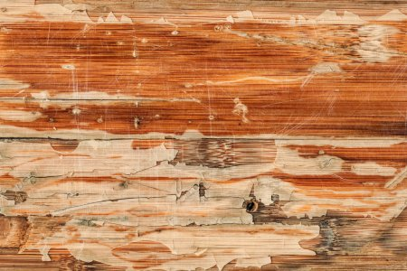 Old Varnished Weathered Wooden Panel Cracked Scratched Peeled Gr