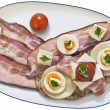 Toast Sandwich in white Porcelain Platter, with Ha...