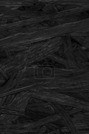Wooden Chipboard Bleached and Stained Charcoal Black Stained Coarse Grunge Texture