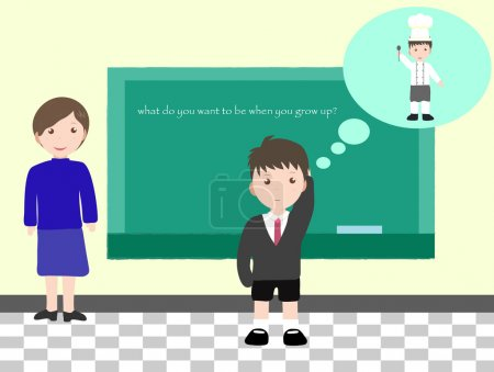 Illustration pour Que veux-tu être quand tu seras grand ? - image libre de droit