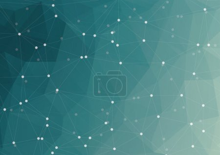 Abstract wireframe mesh polygonal background with connected lines and dots