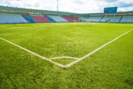 grass on football stadium