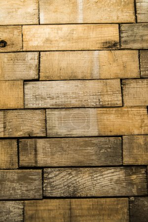 Photo for Old floor made of wooden planks. Background. A lot, Many gray and brown wood boards of backdrop - Royalty Free Image