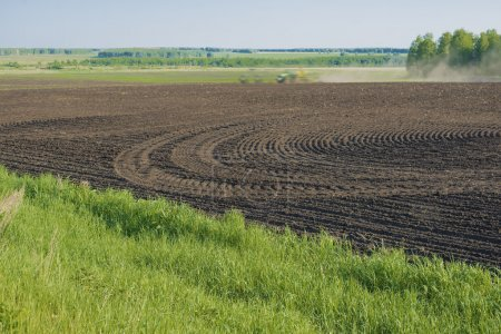 Photo for Empty land. agricultural  landscape with spring field - Royalty Free Image