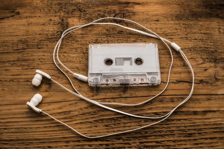Earphones and cassette tape