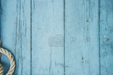 blue boards texture with rope