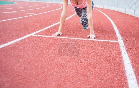 Runner getting ready for a run