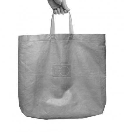 man holding Fabric tote