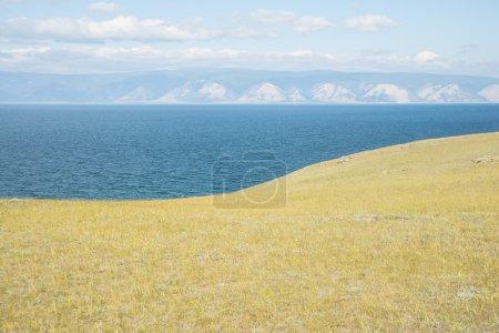 landscape in island Olkhon lake Baikal