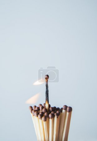 one highest match is burning.