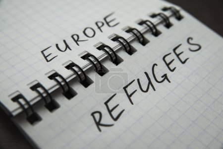 border between words europa and refugees