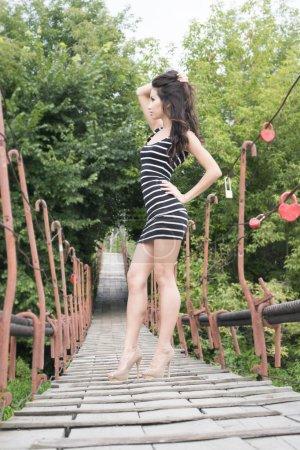 female model standing