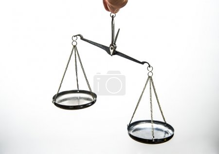 Metal scales of justice