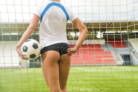 woman before a penalty kick.