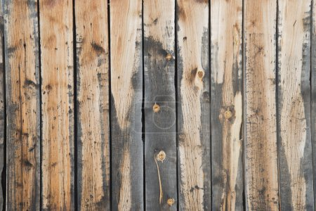 Wooden brown boards