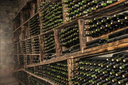 Wine bottles in perspective