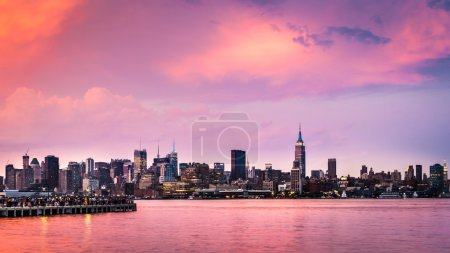 Purple sunset above midtown Manhattan