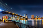 Brooklyn Bridge and the Lower Manhattan