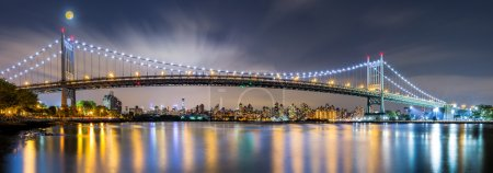 Triboro Bridge panorama at night
