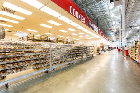 Bakery aisle in a Costco store