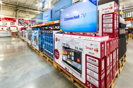 TV asile in a Costco store.