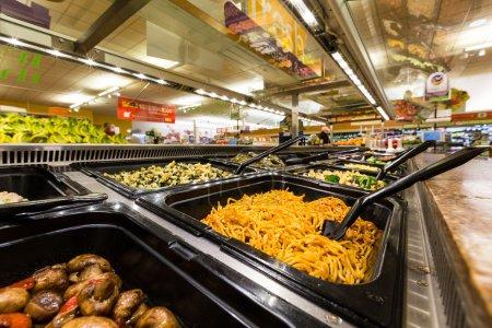 Salad bar in an American supermarket