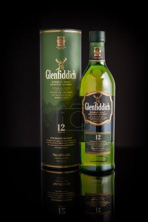Glenfiddich whiskey bottle