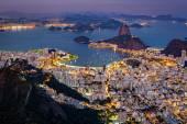 Spectacular aerial view over Rio de Janeiro