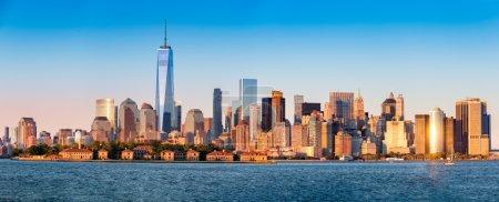 Downtown New York skyline panorama