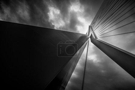 Detail of the Erasmus Bridge in Rotterdam