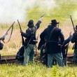 Постер, плакат: Soldiers battle during the reenactment of the Civil War
