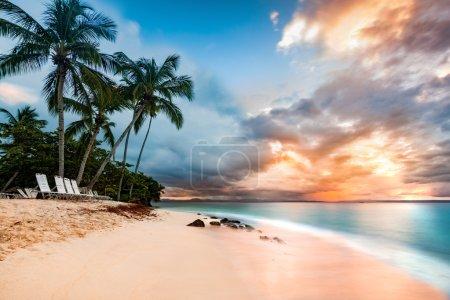 Public beach in Cayo Levantado, Dominican Republic