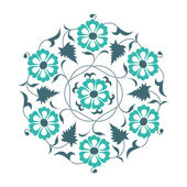 Floral pattern in traditional Muslim Ottoman style Arabic ornaments
