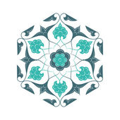 02 Floral pattern unframed light blue