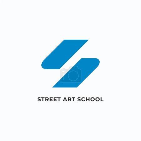 Illustration pour Lettre S pour les inspirations de conception de logo alphabet sur fond blanc - image libre de droit