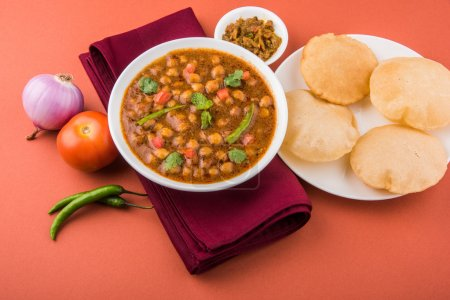 Spicy chick peas also known as Chola Masala or Cha...