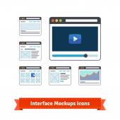 Website interface prototyping mockups wireframes