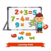 Постер Мальчик обучения математике