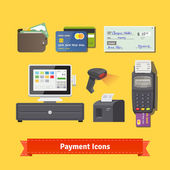 Payment flat icon set