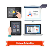 Modern technology in education flat icon