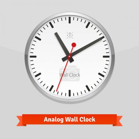 White designer clock face