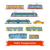 City and intercity transportation vehicles