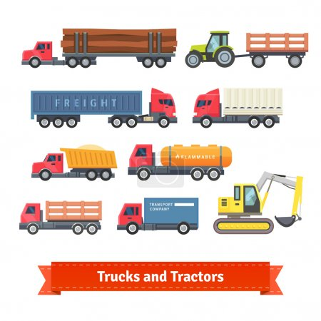 Trucks and tractors set
