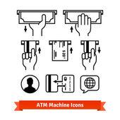 ATM machine icons set