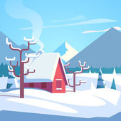 """Постер, картина, фотообои """"Зимние горы пейзаж живописные"""""""